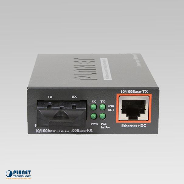 FTP-802S15 IEEE 802.3af PoE 10/100TX - 100FX Fiber Converter (SM, SC, 15km, PoE)