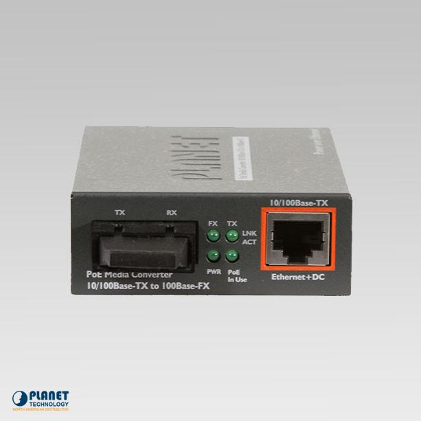 FTP-802 IEEE 802.3af 10/100Base-TX to 100Base-FX PoE Media Converter (MM, SC, 2km, POE)