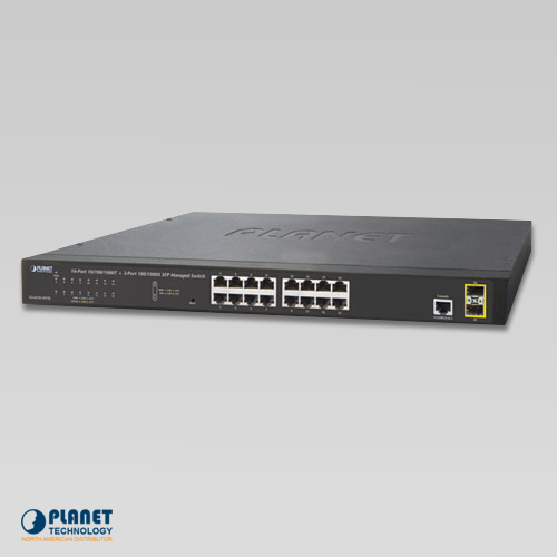 GS-4210-16T2S 16-Port Layer 2 Managed Gigabit Ethernet Switch W/2 SFP Interfaces