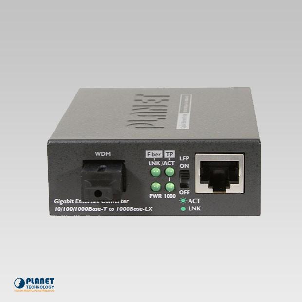 GT-806B15  10/100/1000Base-TX to 1000FX WDM Bi-directional Media Converter (SM, WDM, 1550nm, 15km)