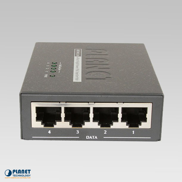 HPOE-460 4-Port 802.3at High Power over Ethernet Injector Hub (120W)
