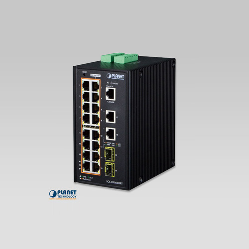 IGS-20160HPT Industrial 16-Port 10/100/1000T 802.3at PoE + 2-Port 10/100/100T + 2-Port 100/1000X SFP Managed Switch (-40~75C)