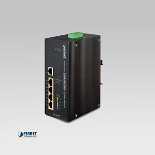 IGS-504HPT IP30 Industrial Gigabit Switch 5-Port 10/100/1000Base-TX w/ 4-Port 802.3at PoE+ (-40 ~75C)