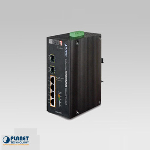 IGS-624HPT IP30 Industrial Ethernet Switch 4-Port 10/100/1000Base-TX w/ 802.3at PoE + 2-Port 100/1000FX (SFP) (-40 ~ 75C)