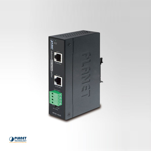IPOE-162S IP30 Industrial 802.3at Gigabit High Power Power over Ethernet Splitter - 12V & 24V (-40 ~ 75 C)