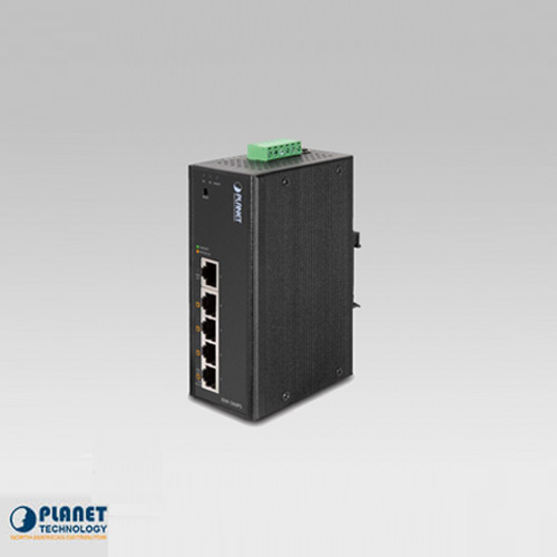 ISW-504PS IP30 Industrial Web Smart Ethernet Switch 5-Port 10/100Base-TX with 4-Port PoE (-10 ~ 60C)