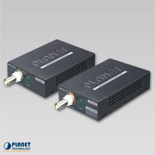 LRP-101C-KIT 1-Port Long Reach PoE over coax Extender Kit (LRP-101CH + LRP-101CE)