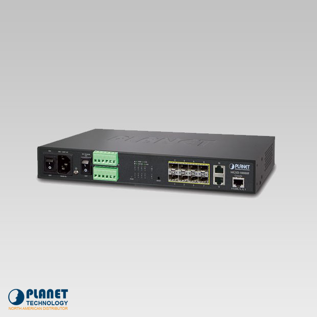 MGSD-10080F 8-Port 100/1000X SFP + 2-Port 10/100/1000T Managed Metro Ethernet Switch