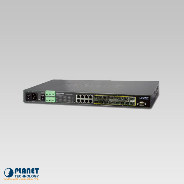 MGSW-24160F 16-Port 100/1000Base-X SFP + 8-Port 10/100/1000Base-T L2/L4 Managed Metro Ethernet Switch (AC 2 DC, DIDO)