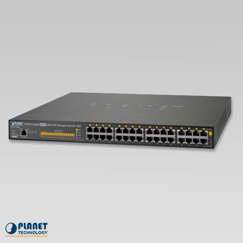 UPOE-1600G 16-Port Gigabit 60W Ultra PoE Managed Injector Hub (600W)
