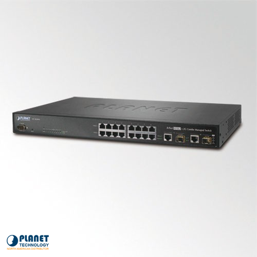 VC-820M 8-Port VDSL2 SNMP Managed Switch with 2-Port Gigabit Combo SFP  - 30a profile