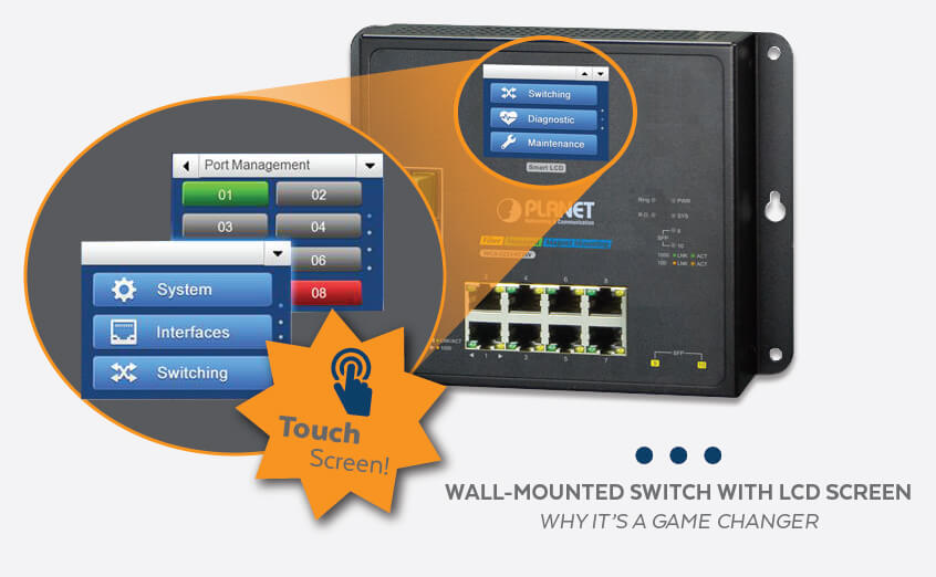 The Wall-Mounted Managed Switch with LCD Screen | Why It's a Real Game Changer