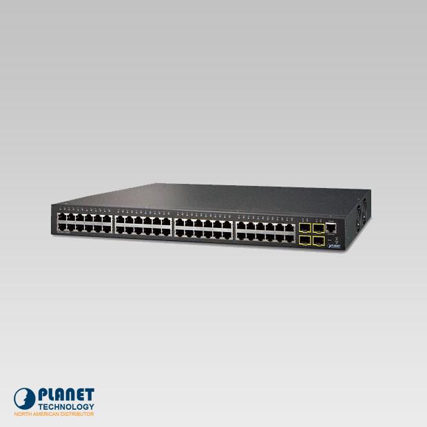 WGSW-52040  IPv6 Managed Gigabit Switch 48-Port 10/100/1000Base-T   4-Port 1000X SFP