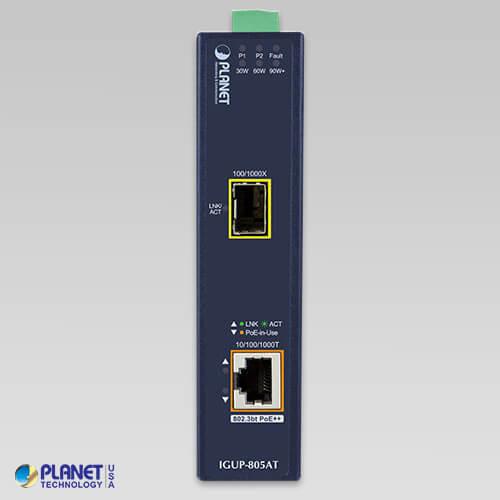 IGUP-805AT Industrial Media Converter Front