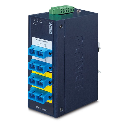 IFB-244-MSC Industrial 2-Channel Optical Fiber Bypass Switch [Multimode SC Connector]