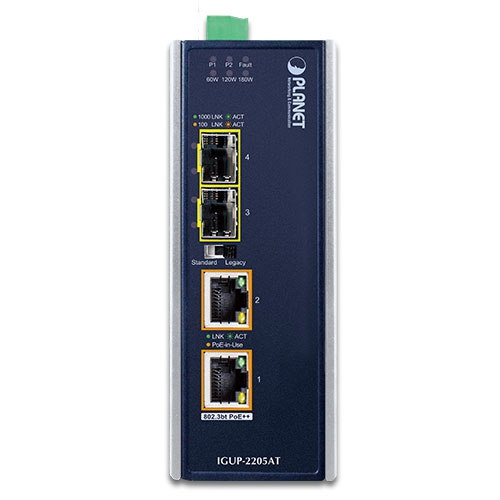 IGUP-2205AT PoE Media Converter Front