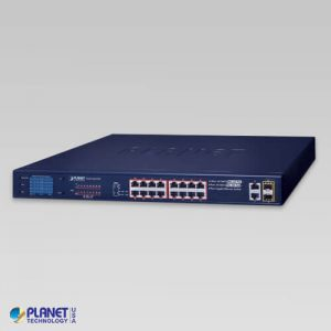 FGSW-2022VHP 12-Port 10/100TX 802.3at PoE + 4-Port 10/100TX 802.3bt PoE + 2-Port Gigabit TP + 2-Port SFP Ethernet Switch with LCD Management