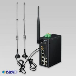 ICG-2510W-LTE-US Industrial 4G LTE Cellular Wireless Gateway with 5-Port 10/100/1000T(LTE Band B2/B4/B12)