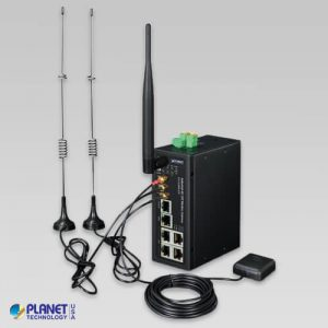 ICG-2510WG-LTE-US Industrial 4G LTE Cellular Wireless Gateway with 5-Port 10/100/1000T(GPS, LTE Band B2/B4/B12)