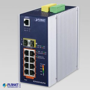 IGS-6325-8UP2S Industrial L3 8-Port 10/100/1000T 802.3bt PoE + 2-Port 100/1000X SFP Managed Ethernet Switch