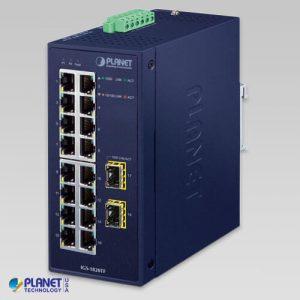 IGS-1820TF Industrial 16-Port 10/100/1000T + 2-Port 1000X SFP Ethernet Switch