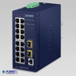 IGS-4215-16T2S Industrial L2/L4 16-Port 10/100/1000T + 2-Port 100/1000X SFP Managed Switch