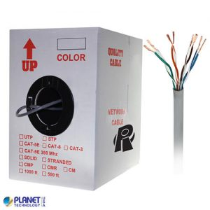 CP-C5E-ST-1K-GY Bulk Ethernet Cable Gray