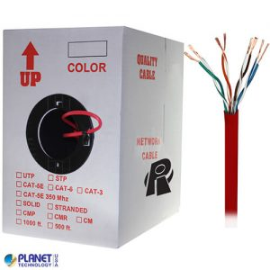 CP-C5E-ST-1K-RD Bulk Ethernet Cable Red