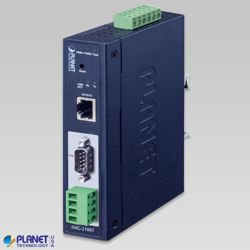 IMG-2100T Industrial 1-port RS232/422/485 Modbus Gateway