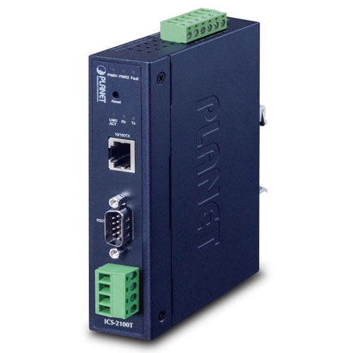 ICS-2100T IP30 Industrial 1-Port RS232/RS422/RS485 Serial Device Server