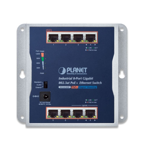 WGS-818HP PoE Switch Front