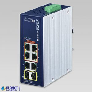 IGS-824UPT Industrial 4-Port 10/100/1000T 802.3bt PoE + 2-Port 10/100/1000T + 2-Port 100/1000X SFP Gigabit Ethernet Switch