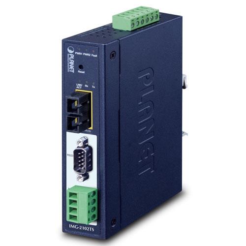 IMG-2102TS IP30 Industrial 1-Port RS232/RS422/RS485 Modbus Gateway (1 x 100FX SC, SM/30km, -40~75C)