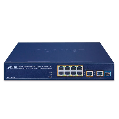 GSD-1121XP PoE Switch Front