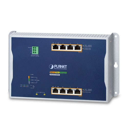 WGS-4215-8HP2S Wall Mount PoE Switch