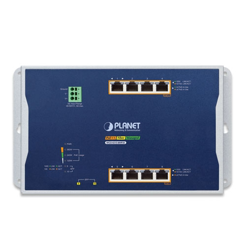 WGS-4215-8HP2S Wall Mount PoE Switch Front