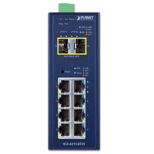 IGS-4215-8T2S Industrial Switch